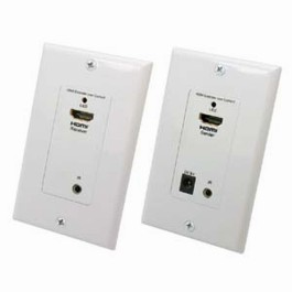 HDMI/Remote Control IR Extender Wall Plate 1080p, 150Ft (50m)