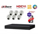 Dahua Penta-brid 1080P Security Package: 8CH XVR5108 w/2TB HDD+(6) 2MP Outdoor IR HDW1200M Eyeball
